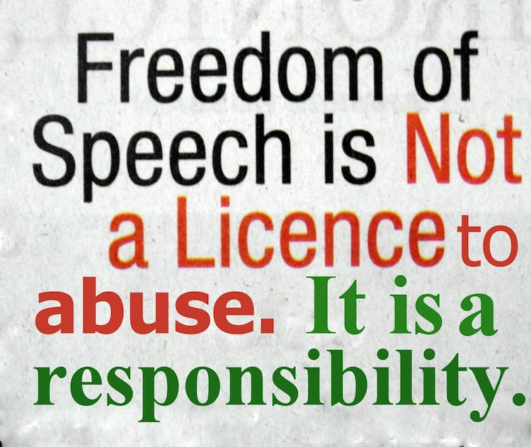freedom of speech means the freedom Internet censorship means no freedom of speech essay 2128 words | 9 pages  users of the internet should be able to practice self-regulation censorship of.