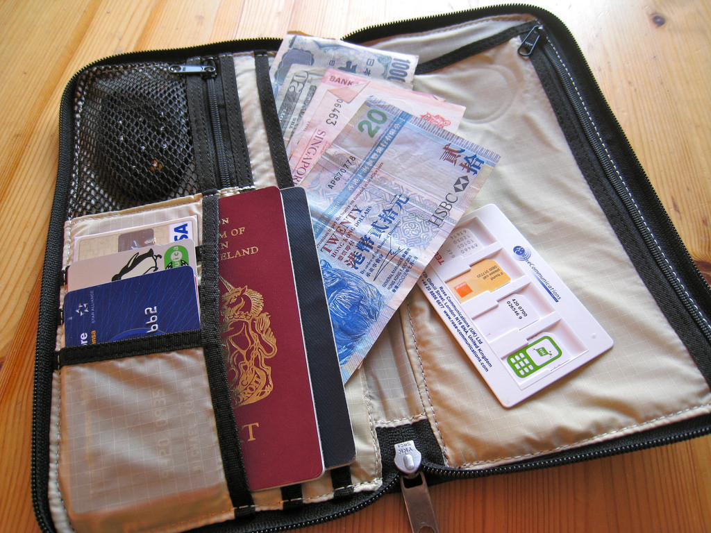 Bought a travel wallet :(